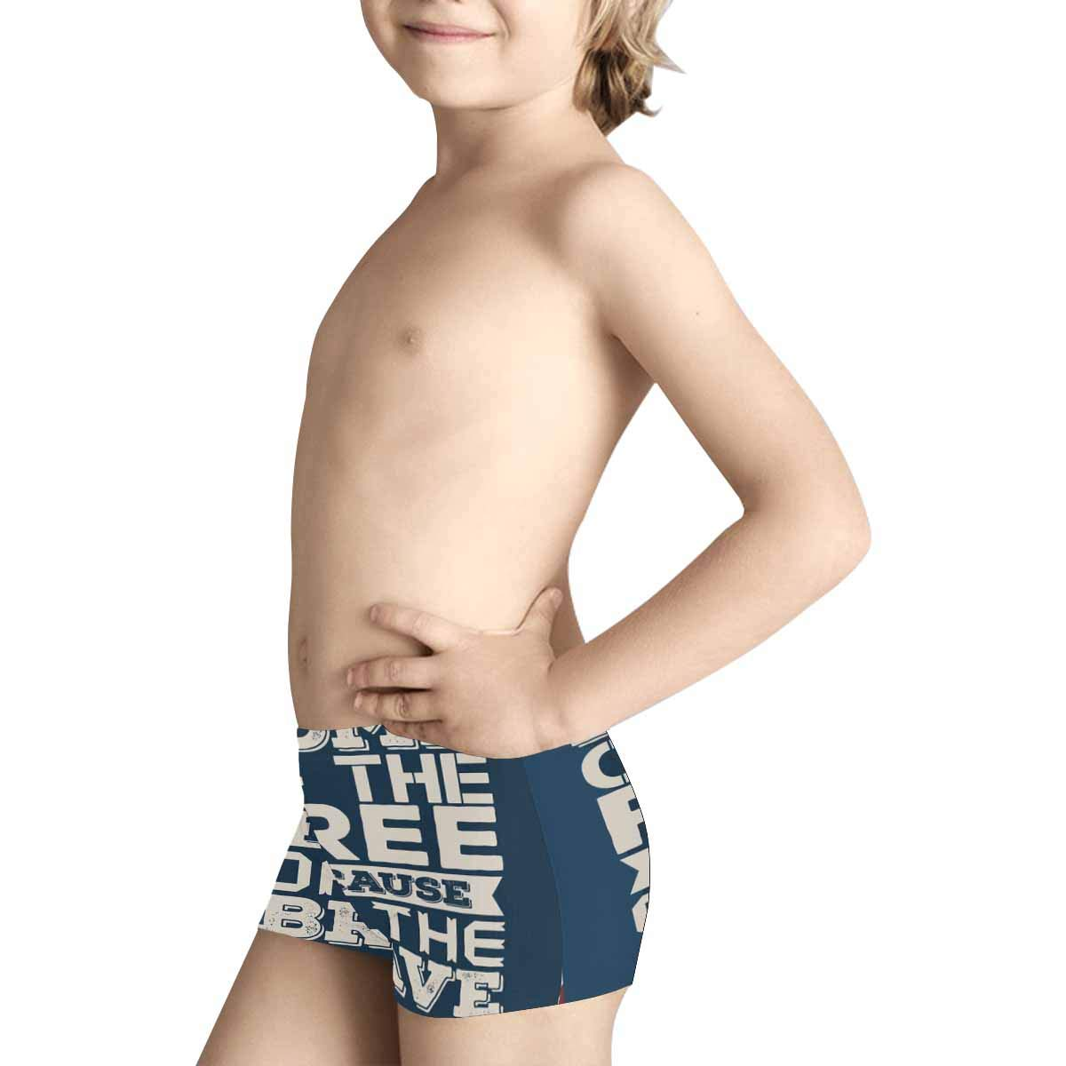 INTERESTPRINT Kids 4th of July Independence Day ComfortSoft Printed Boxer Briefs 5T-2XL