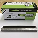 meite 22 Gauge 3/8-inch Crown 304 Stainless Steel Staples with 3/8-inch Leg similar to Senco C and 71 series 10,020 per Box (1 Box)