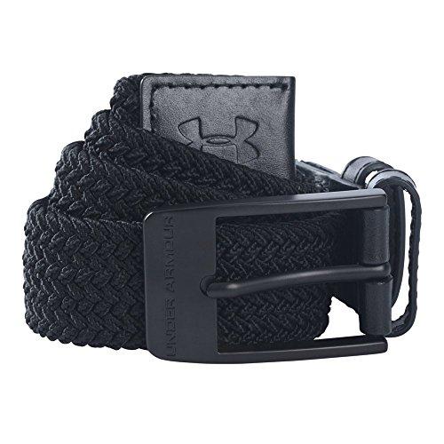 (Under Armour Men's Braided Belt, Black (001)/Black, 38)