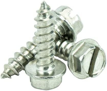 Qty 100 by Bridge Fasteners Full Thread #6 x 3//4 Hex Washer Head Sheet Metal Screws Self Tapping 18.8 Stainless Steel