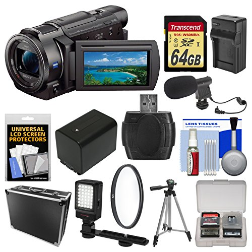 Sony Handycam FDR-AX33 Wi-Fi 4K Ultra HD Video Camera Camcorder with...