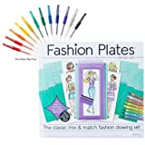 Fashion Plates Design Set with Gel Pens
