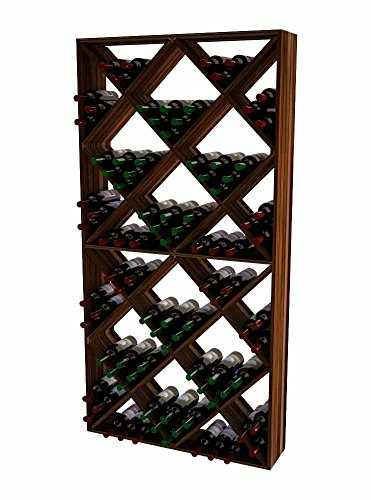 Wine Cellar Innovations TR-DW-SDIAM-A3 Traditional Series Solid Diamond Bin Wine Rack, Premium Redwood, Dark Walnut ()