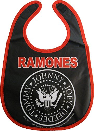 Presidential Trim - Ramones Logo and White Presidential Seal - Black with Red Trim - Baby Bib from Sourpuss Clothing