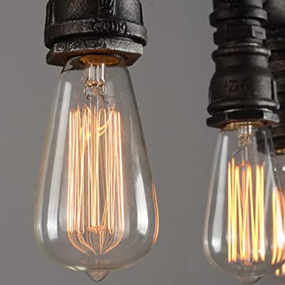LightInTheBox Vintage Retro Silk Industrial Plumbing Lamps Pipe Lighting Chandelier 5 Lights for Cafe Bar Restaurant