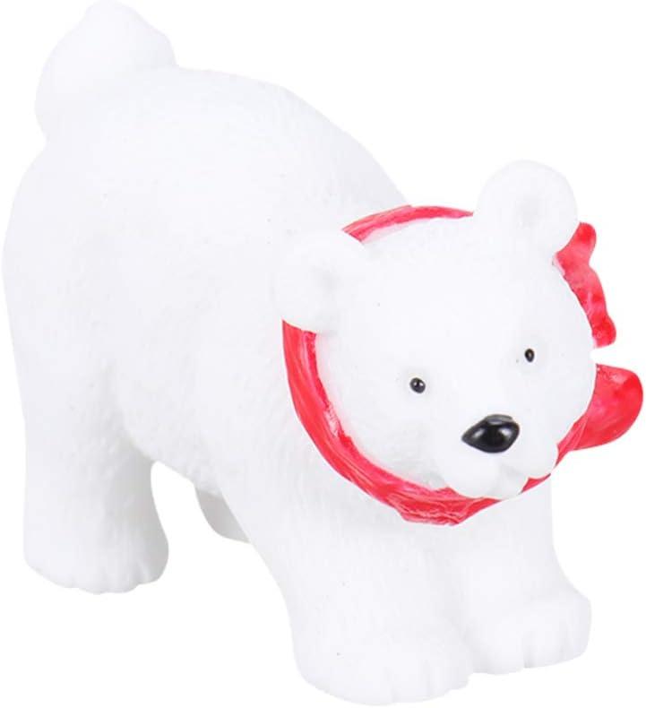 VOSAREA 6PCS Miniature Polar Bears Christmas Animal Toy Figurines Ornaments DIY Crafts Accessories for Fairy Garden Terrarium Moss Landscape Desktop Decoration (Random Style)