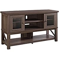 Altra Everett 70 TV Stand with Glass Doors in Medium Oak