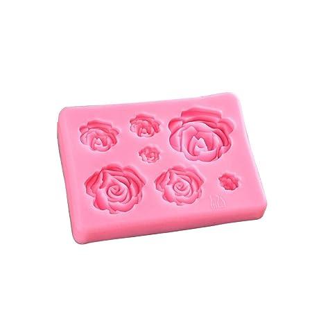 Cranky Orange 3D Rose Flor de Silicona Fondant Pastel de ...
