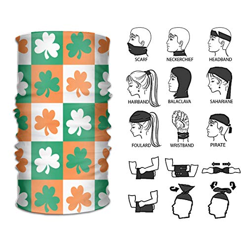(Camp Ursula Headbands Shamrock Ireland Sun Proof Bandana Head Scarf Head Wrap Neck Warmer Neck Gaiter Headwear)