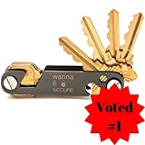 Compact Key Organizer | Key Chain For Men/Women | Father's Day Gift | Premium Heavy Duty Key Holder w/Built-In Bottle Opener & Phone Holder | Includes Anti-Loosening Washers | Neat Black Box Packaging