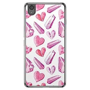 Loud Universe OnePlus X Love Valentine Printing Files Valentine 52 Printed Transparent Edge Case - Purple/White