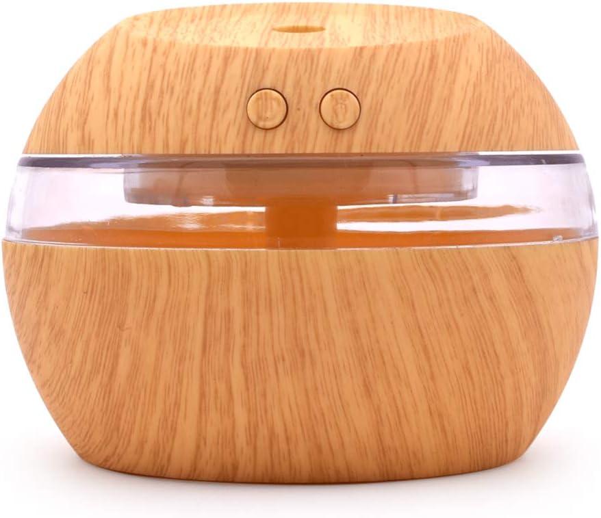 300 مل بالموجات فوق الصوتية ناشر الروائح العطرية الإبداعية الخشب مصغرة كتم الصوت USB الهواء المرطب المنزلي غرفة نوم الزيوت العطرية آلة للعلاج العطري للمنزل والمكتب