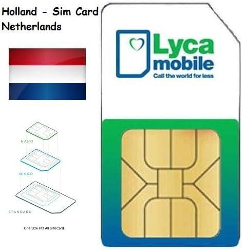 Lycamobile Lyca mobile Prepaid Netherlands Holanda 3 in 1 Sim Card ...
