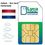 Lycamobile Lyca mobile Prepaid Netherlands Holland 3 in 1 Sim Card 4G LTE incl. EU Roaming