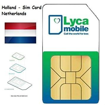 7f1c76dd88d Lycamobile Lyca mobile Prepaid Netherlands Holanda 3 in 1 Sim Card 4G LTE  EU Roaming: Amazon.es: Electrónica
