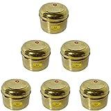 SHIV SHAKTI ARTS Handmade Pure Set Of 6 Brass Box No 5 For Storage Purpose Dry Fruit Store Small Jewellery Store