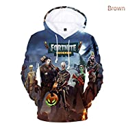 Yeawooh Fortnite 3D Printing Unisex Hoodie Novelty Youth Game Sweatshirt Pullover