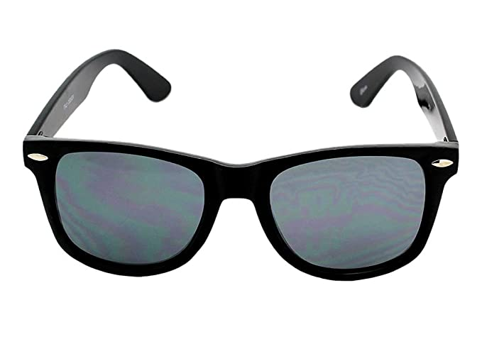 ab3ef630bf9 Image Unavailable. Image not available for. Color  Retro Risky Business Blues  Brothers Wayfarers Sunglasses with Black Frame