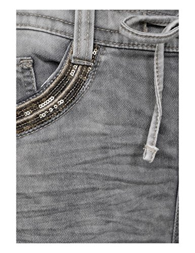 Street Random Bleach Heavy 11378 Slim Grigio Donna grey Jeans One xpqxFwP