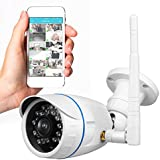 Wireless Outdoor IP Security Camera - Weatherproof HD 720p Home WiFi Surveillance Internet Video w/ Built in16g SD Storage - Motion Detection Night Vision for PC iOS Android - Serenelife IPCAMHD15