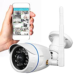 Outdoor Wireless IP Camera - HD Network Security Surveillance Home Monitoring System with Motion Detection, Night Vision - iPhone Android Mobile App, PC WiFi Remote Access Cameras - IPCAMHD15