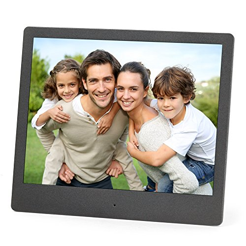 Micca NEO 8-Inch Digital Photo Frame with High Resolution IPS LCD, MP3 Music and 720P HD Video Playback, Auto On/Off Timer, Ultra Slim Design (M803A)