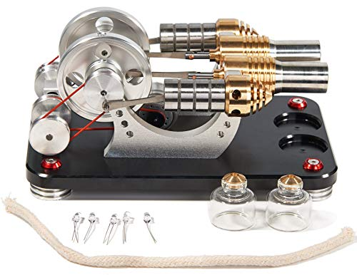 Sunnytech Hot Air Stirling Engine Motor Generator Education Toy Kits Electricity M16-22-D by Sunnytech (Image #3)