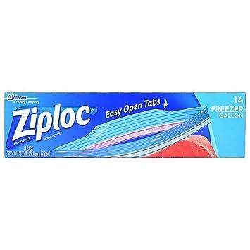 1 x Ziploc bolsas de congelación, Gallon 14 EA: Amazon.es: Hogar