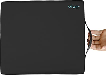 Vive Wheelchair Cushion - Gel Seat Pad for Coccyx, Orthopedic Back Support, Sciatica & Tailbone Pain Relief - Waterproof Cover + 4 Layer Foam Support ...