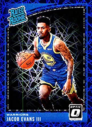 fa125ef8620 2018-19 Donruss Optic Blue Velocity #178 Jacob Evans III Rated Rookie Golden  State