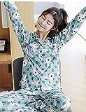 WWQY Women's Cotton Roman Knit Pajama , light green , m