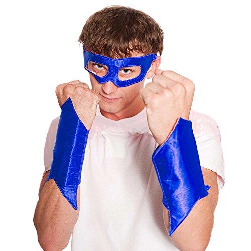 Everfan Men's Superhero Eye Mask And Powerbands 6