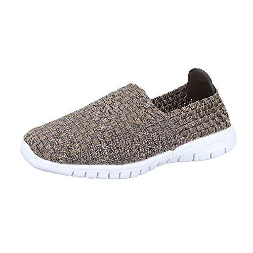 Ital-Design - Zapatillas de casa Mujer Beige DSC002-7