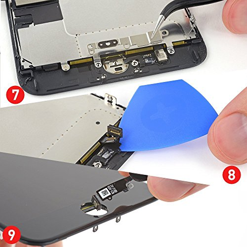 Replacement Screen for iPhone 7 Black LCD Display Touch Digitizer Screen Full Assembly with Repair Tool Kit and Screen Protector by i DIY (Image #5)
