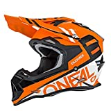O'Neal 2SERIES Mens Off-Road SPYDE Helmet (Orange/White, Small)