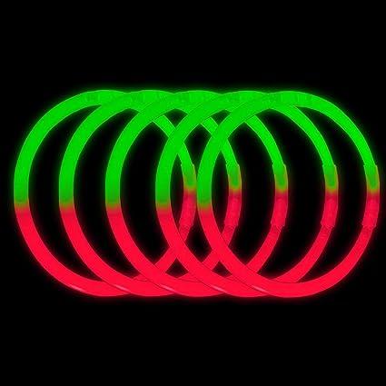 """100 x 8/"""" Glow Sticks Bracelets Necklaces Neon Colors Party Favors"""