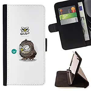 For Apple Iphone 5 / 5S Tiny Owl Style PU Leather Case Wallet Flip Stand Flap Closure Cover
