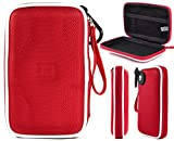 Cable Travel Storage Case | Fiesta Red EVA On-The-Go Universal Bag Pouch to Store Small Electronic Accessories