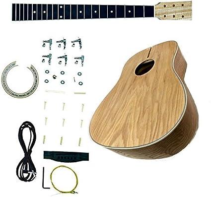 DIY Kit de guitarra acústica Builder proyecto Luthier – Dreadnought, AA, Cutout: Amazon.es: Instrumentos musicales