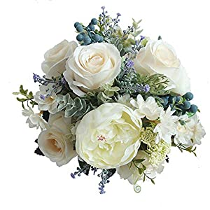 Kindlov-F Hand Bouquet Fashion Beautiful Wedding Bridal Bouquet Bridal Bridesmaid Bouquets Wedding Flower Decor Wedding Bouquet Delicate 69