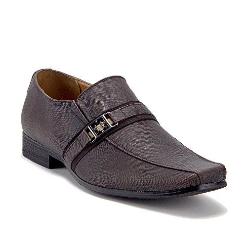 Slip Brown N2869 Textured Men's On Shoes Loafers Dress Designer Casual qOx5a