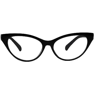 1c577a51b Agstum Customize Prescription Glasses - Ladies Womens Cat eye Glasses Frame  Optical TR90 Eyeglasses (Black