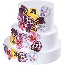 GEORLD 36pcs Edible Pansies Cupcake Toppers for Cake Decoration 7 Colors