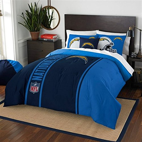 San Diego Chargers Comforter (San Diego Chargers Full Comforter & Shams Set, NFL Boys 3 Piece Bedding)