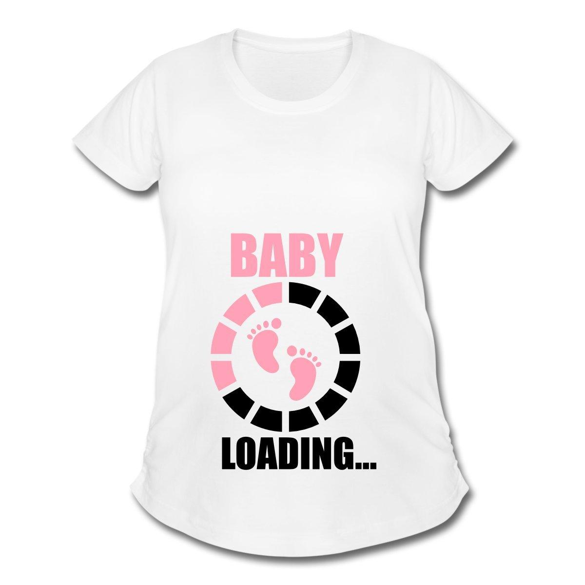 4af50650b4f86 Spreadshirt Pregnancy Baby Loading Footprints Women's Maternity T-Shirt