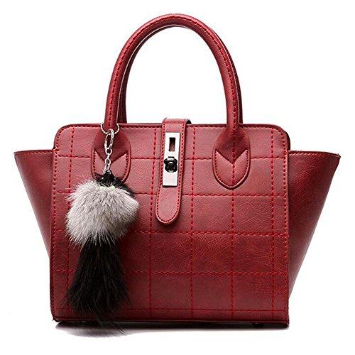 SHUhua Frauen schultern Beutel-weibliche Handtaschen-Tote-Geldbeutel light grey