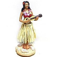 "Smyer Dashboard Hula Girl, Hawaiian hula girl dashboard bobble doll,Collection Figurines Gifts for Decoration 4.5"" High (1)"
