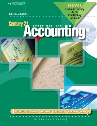 Century 21 Accounting: General Journal, 2012 Update: 9th (nineth) Edition