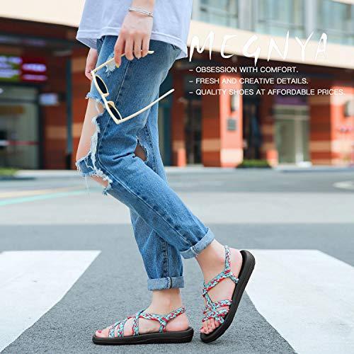 47bdf987335cb QLEYO Women's Comfortable Flat Walking Sandals with Arch Support Waterproof  for Walking/Hiking/Travel/Wedding/Water Spot/Beach. ...
