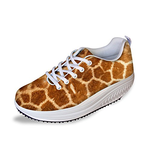 CHAQLIN Fashion Women Platfrom Shoes Casual Animal Skin Pattern Pattern Pattern Fitness Swing Sneaker Parent B076PR4P1Y 6c82c2